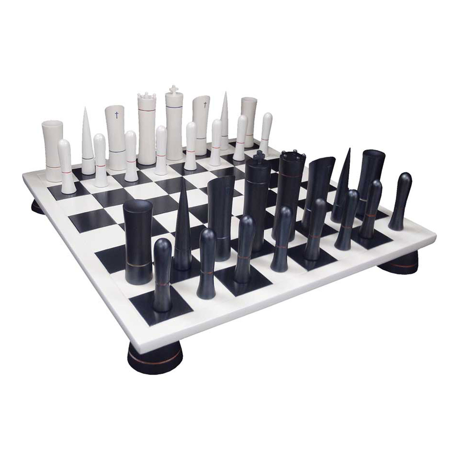 Modern Chess Table Chess Set  White  Black Board  Italfama Chess  Touch Of Modern
