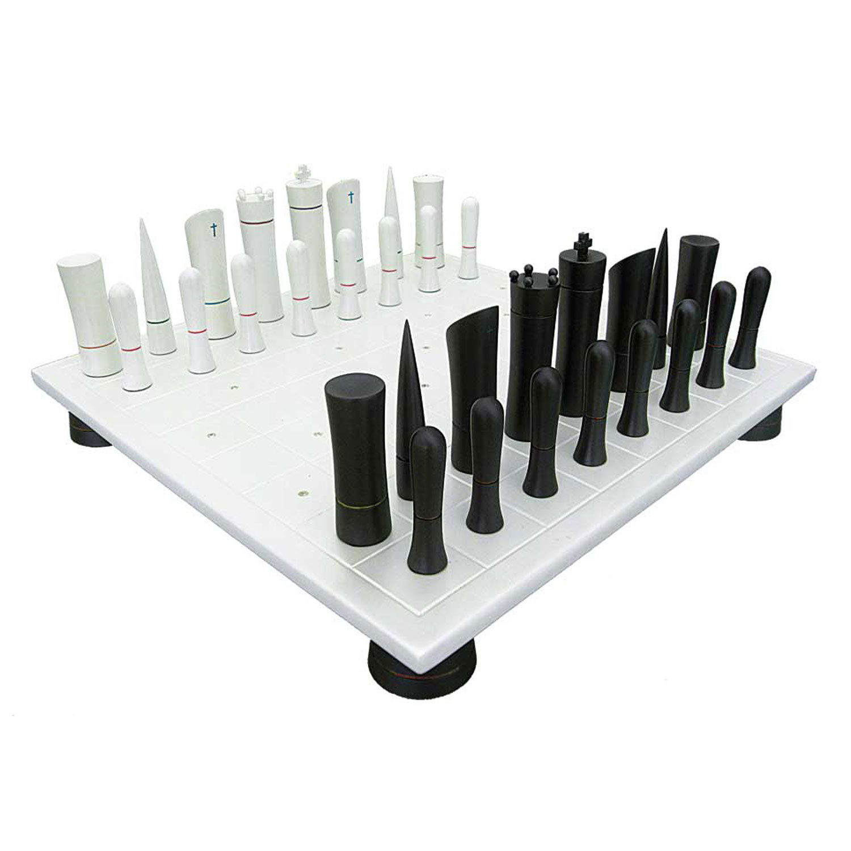 Chess Set White Board W Crystals Italfama Chess