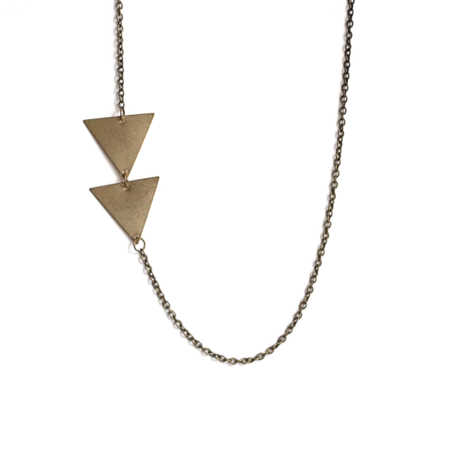 asymmetrical and necklace diamond initial assymetrical bychari products