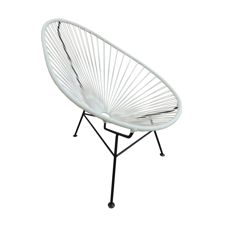 Astonishing Acapulco Chair White Akele Designs Touch Of Modern Spiritservingveterans Wood Chair Design Ideas Spiritservingveteransorg