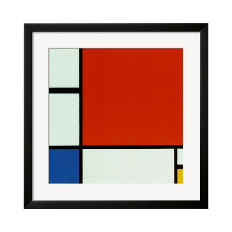 Composition with Red Blue Yellow (SOHO Black)