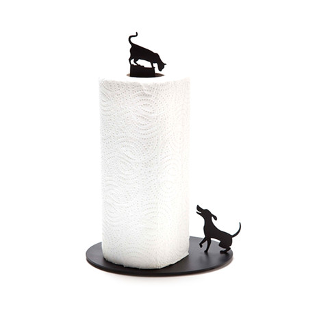 Dog Vs. Cat // Paper Towel Holder