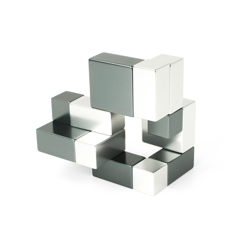 Playable ART Metal Cube // Silver + Iron Gray