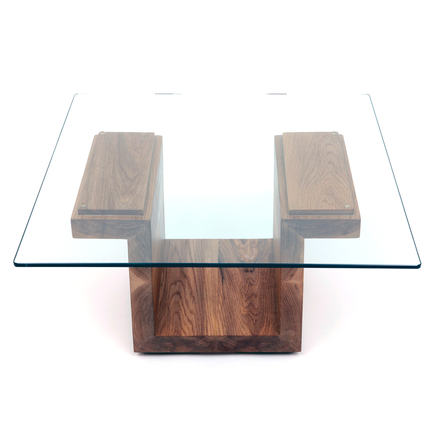 Square Glass Top Table // White Oak ARTLESS Touch Of Modern. Full resolution‎  portraiture, nominally Width 1500 Height 1500 pixels, portraiture with #1D495D.