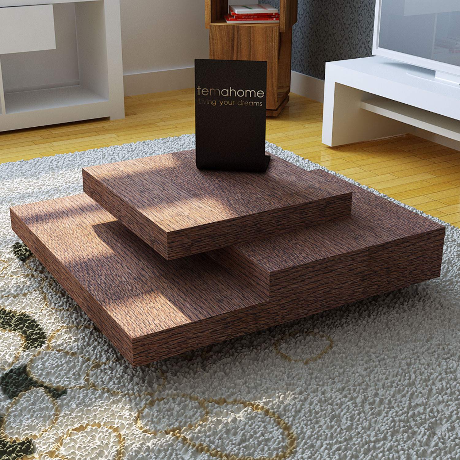 Slate Coffee Table Chocolate Temahome Living Touch of Modern