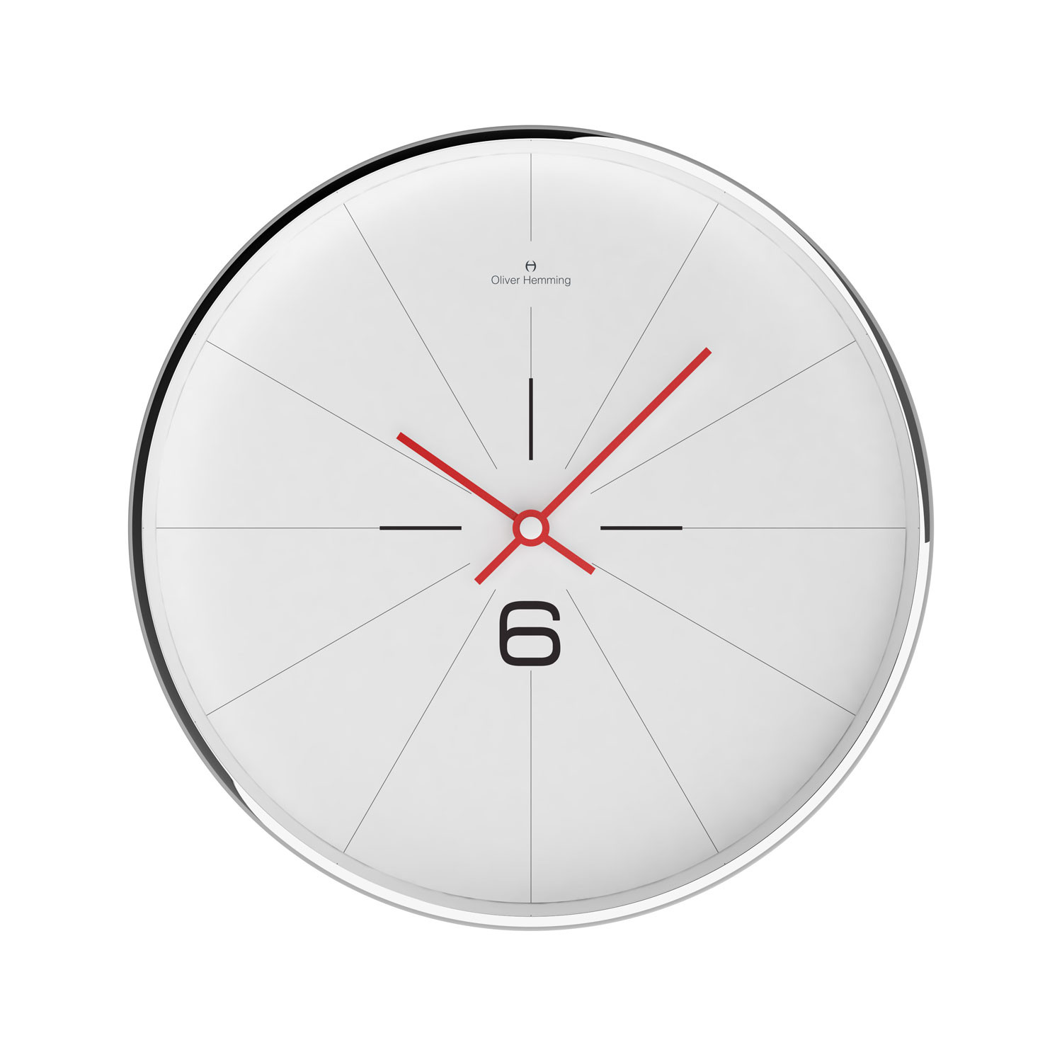 Chrome wall clock w303s26w oliver hemming wall clocks touch chrome wall clock w303s26w ccuart Choice Image