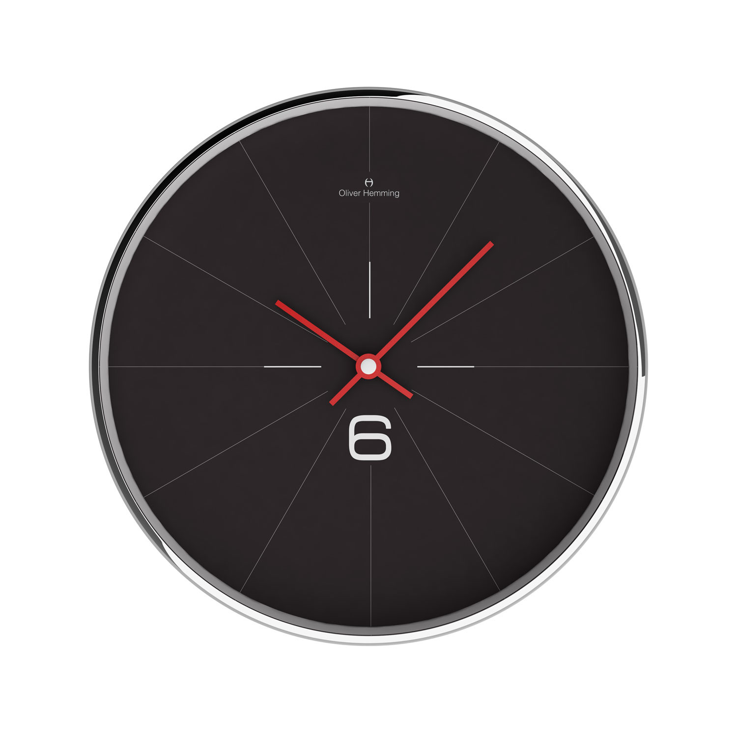 Chrome wall clock w303s26b oliver hemming wall clocks for Touch of modern clock