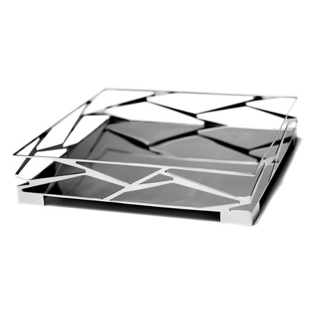 "Trama Bar Tray (Square: 15.75""L x 15.75""W x 2.76""H)"