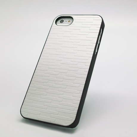 Metal Brick Case for iPhone 5 // Silver