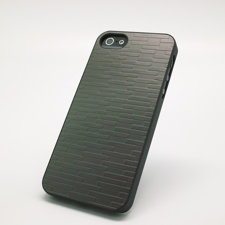 Metal Brick Case for iPhone 5 // Gun Metal