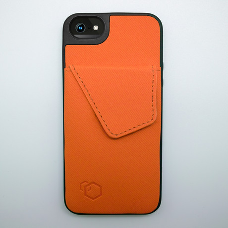 Wallet Stand for iPhone 5 // Orange