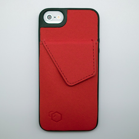 Wallet Stand for iPhone 5 // Red