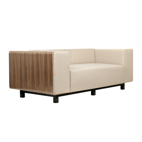 Shell Sofa // Walnut (Cream)