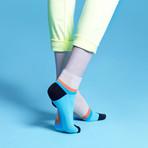 Preen Low Socks (Blue, Size: 5 - 7.5)