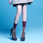 Noel Mid-Calf Socks (Green, Size: 5 - 7.5)