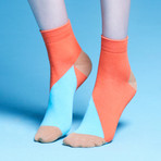 Percy Ankle Socks (Turquoise, Size: 5 - 7.5)