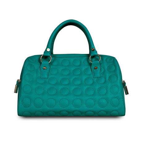 Soft Bubble Speedy Satchel // Emerald