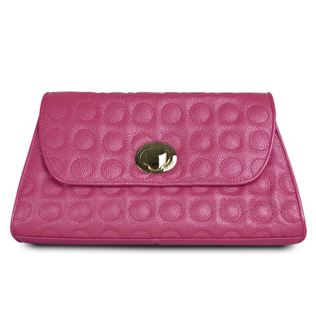 Soft Bubble Convertible Clutch // Fuchsia
