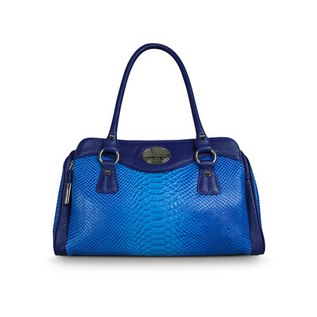 Peggy Triple Compartment Satchel // Cobalt