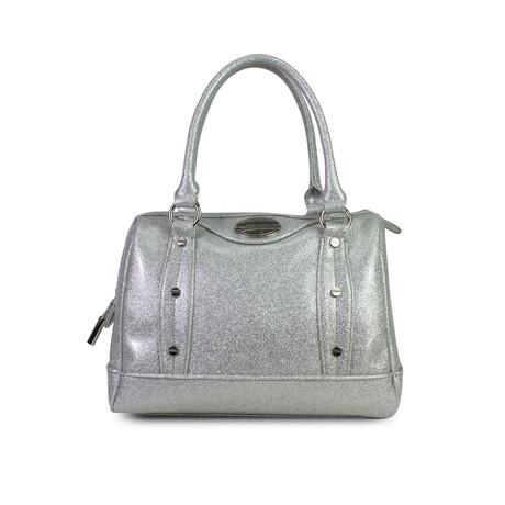 Holiday Glitter Jelly Speedy Satchel // Silver