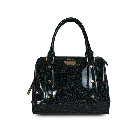 Holiday Glitter Jelly Speedy Satchel // Black