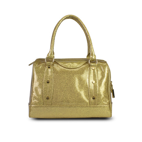 Holiday Glitter Jelly Speedy Satchel // Gold