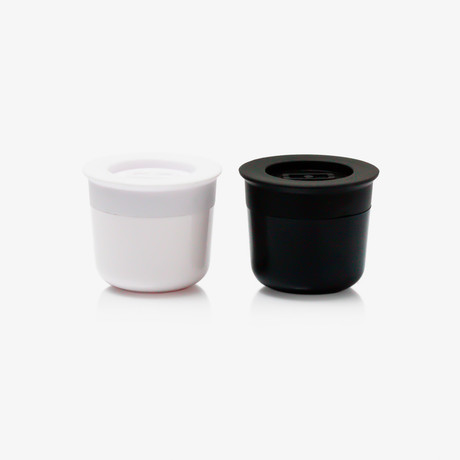 Sauce Cups // Black + White