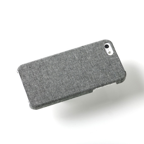 Hudson iPhone 5 Case // Black Chambray