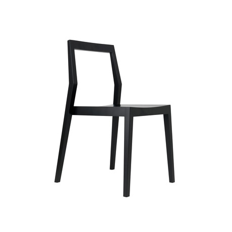 Dining Chair w/ Open Back // Ebony Maple