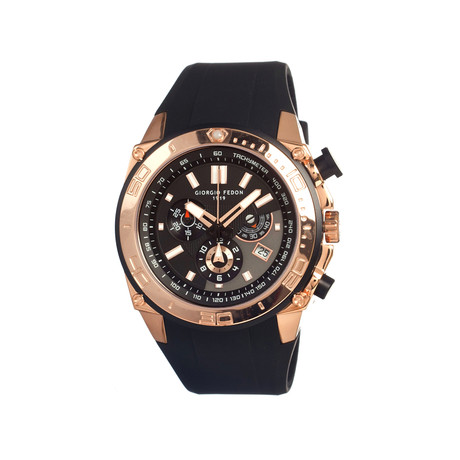 Speed Timer Men's Watch // Rose Gold