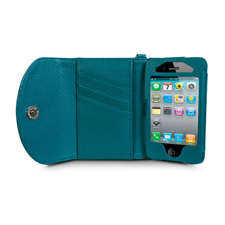 Wristlet Wallet for iPhone 4/4S // Emerald