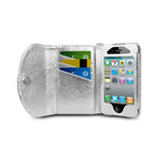 Wristlet Wallet for iPhone 4/4S // Silver