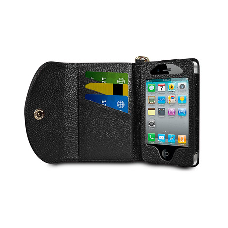Wristlet Wallet for iPhone 4/4S // Black