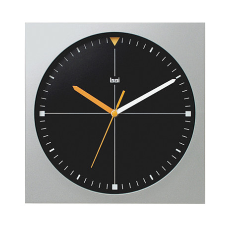 Square Wall Clock Formula One