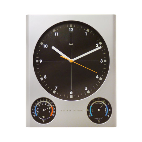 "Bai 11x13"" Tank Weather Station Wall Clock"
