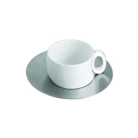 Cup & Saucer // Steel