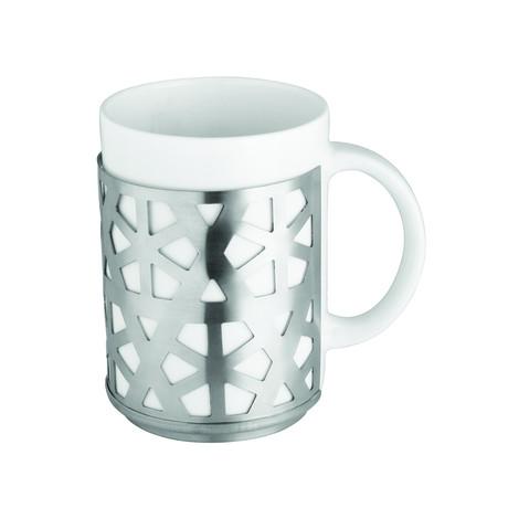 "Coffee Mug // Silver Case (2.75"" Dia, 3.75""H)"