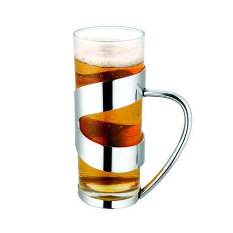 Beer Mug w/ Steel Sleeve