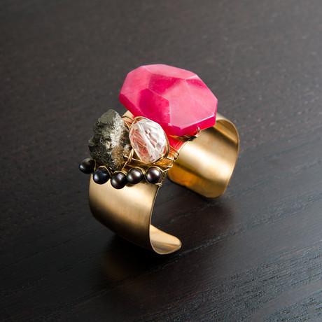 Muse Cuff // Pink & Black