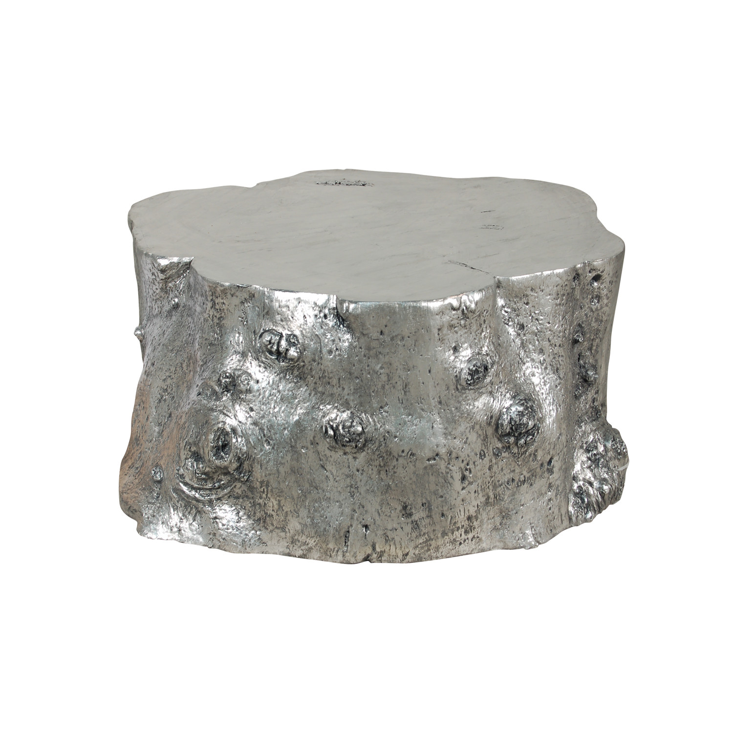 Log Cocktail Table Silver Leaf Phillips Collection Touch of