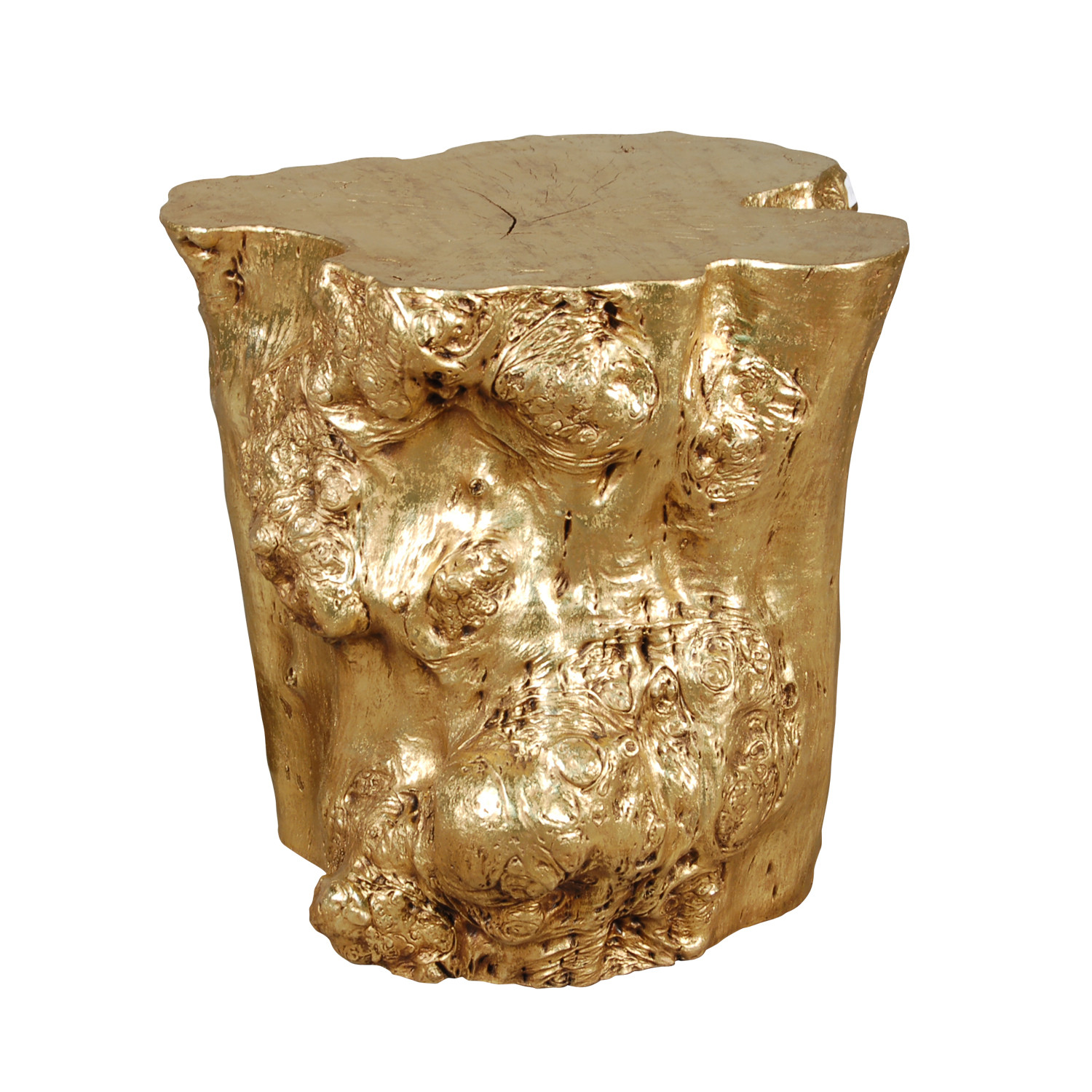 Log Side Table Gold Leaf Phillips Collection Touch of Modern