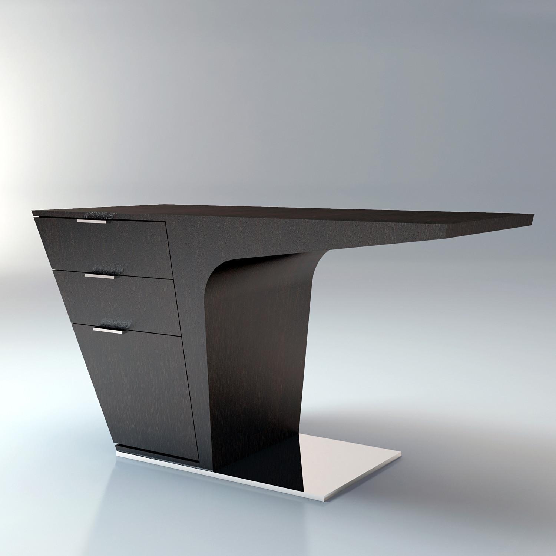 Mercer desk wenge modloft living touch of modern for Futuristic dining table