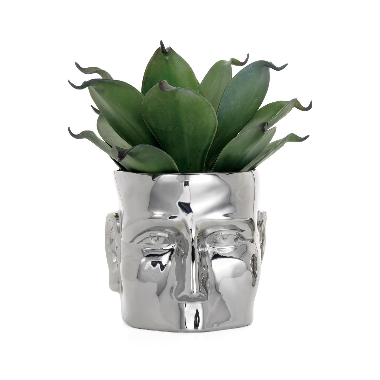 Face vase chrome large 85l x 95w x 8h torre tagus face vase chrome large 85l x reviewsmspy