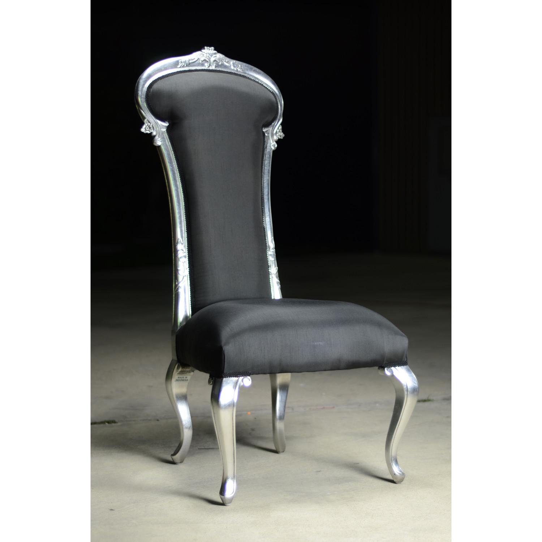 dauphine chair  black  silver  fabulous  baroque  touch of  - dauphine chair  black  silver