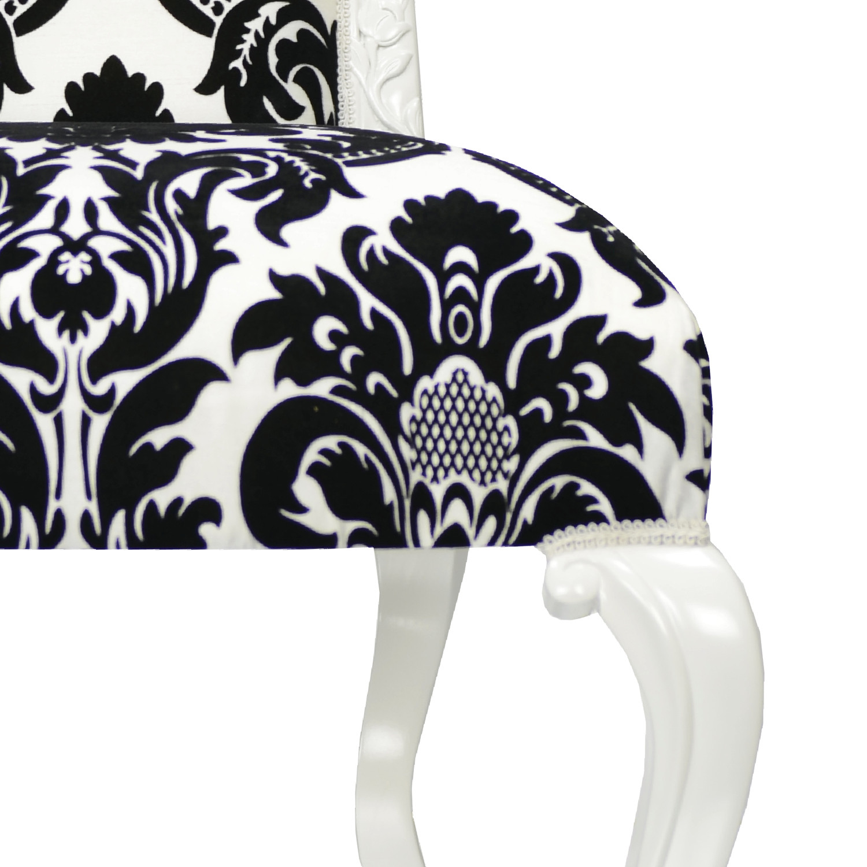 Dauphine Chair   Damask // White Trim