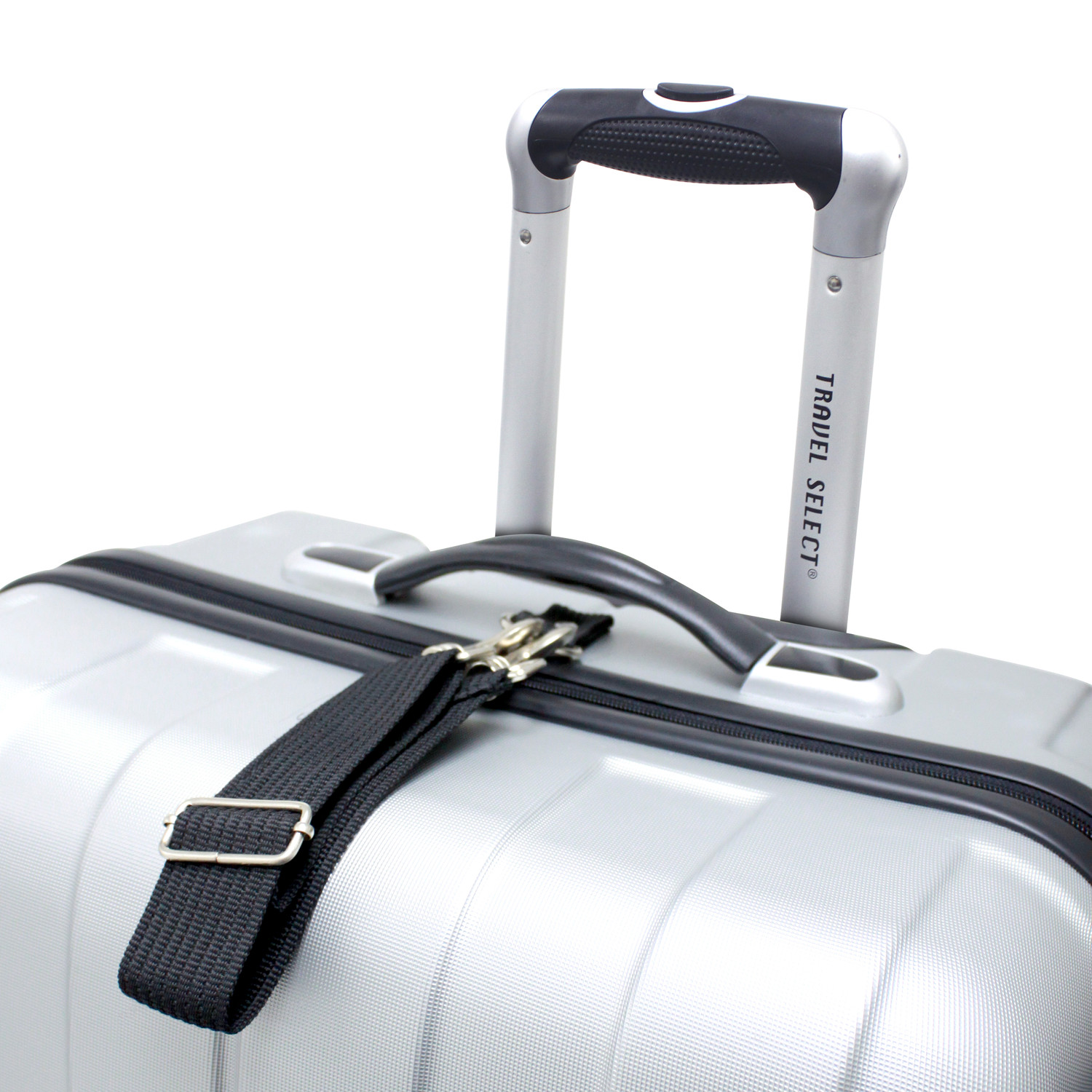 d1ae8a328 Travel Select Crossing 3pc Hardshell Luggage Set // Silver ...