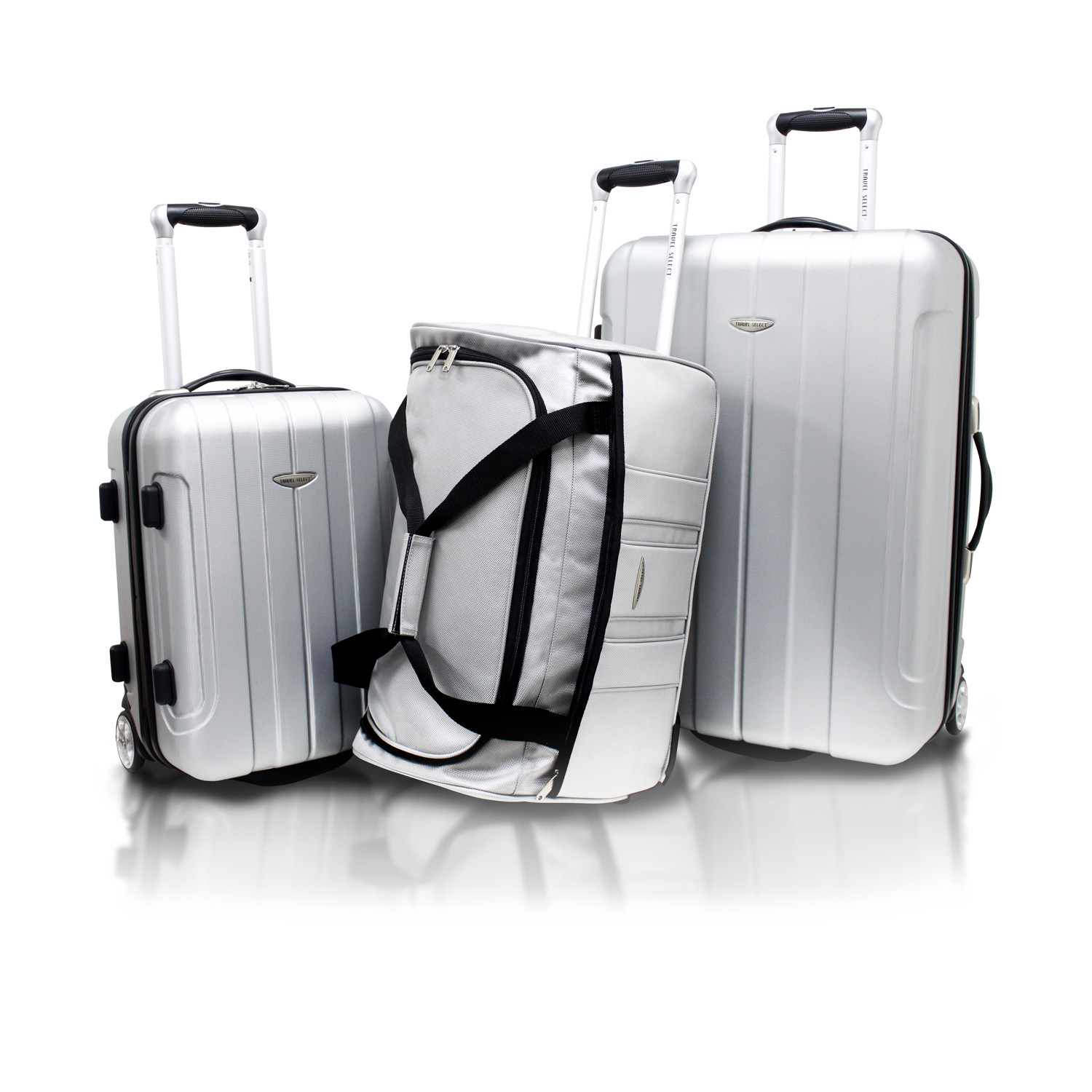 Travel Select Crossing 3pc Hardshell Luggage Set // Silver ...