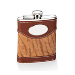 Two-Tone Flask // Brown