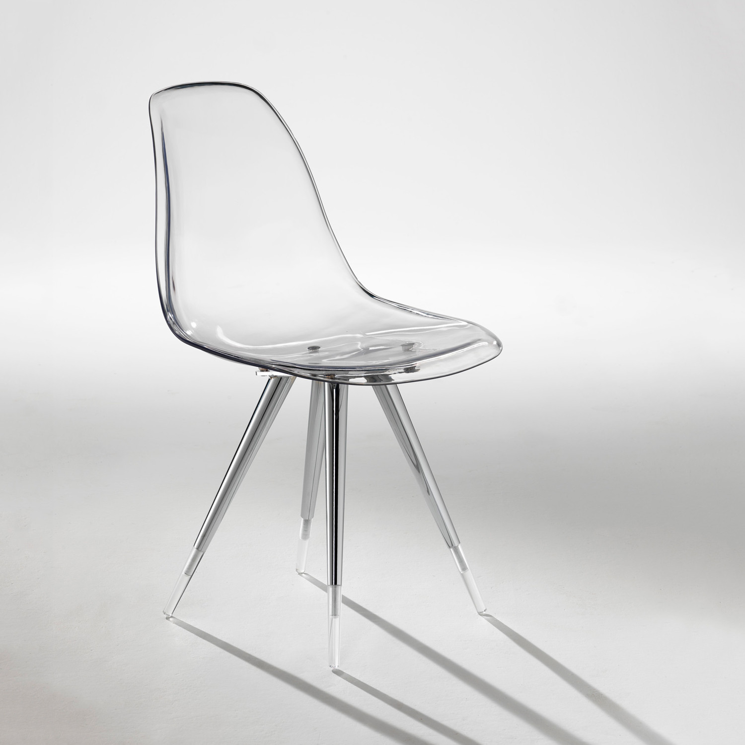 angel base chair  transparent shell  kubikoff  touch of modern - angel base chair  transparent shell