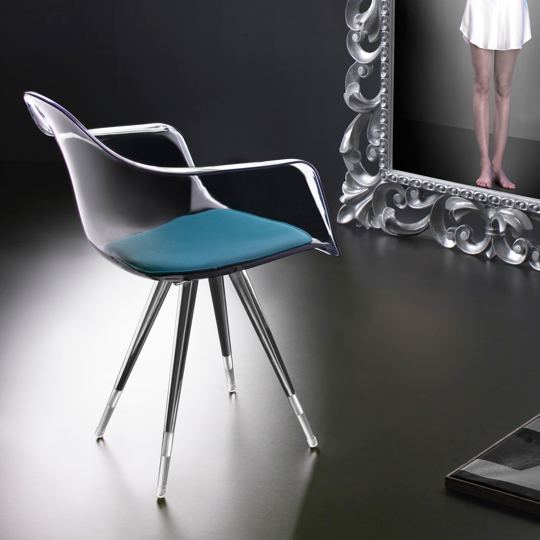 Angel Base Chair Transparant Arm Shell Clear Chair No Pad – Clear Arm Chair
